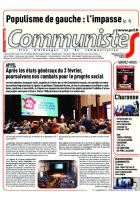 Journal CommunisteS n°711 7 février 2018